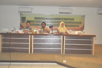 Sosialisasi Perpres Nomor 33 Tahun 2012 tentang SJDIH